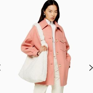 🌼NWT Topshop Apricot Coat with Wool